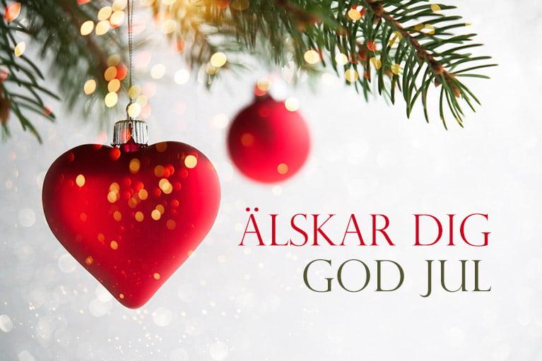 Älskar dig julkort