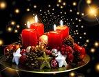 Adventsljus för att fira fjärde advent