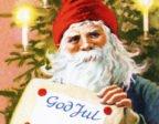 Tomten ger ett julpaket