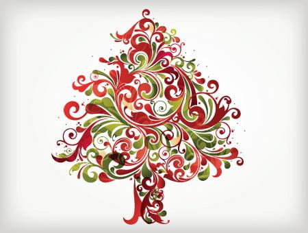 Färgglad julgran