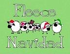 Roligt julkort med får