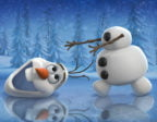 Frost snögubbe