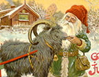 Julbock med tomte av Jenny Nyström