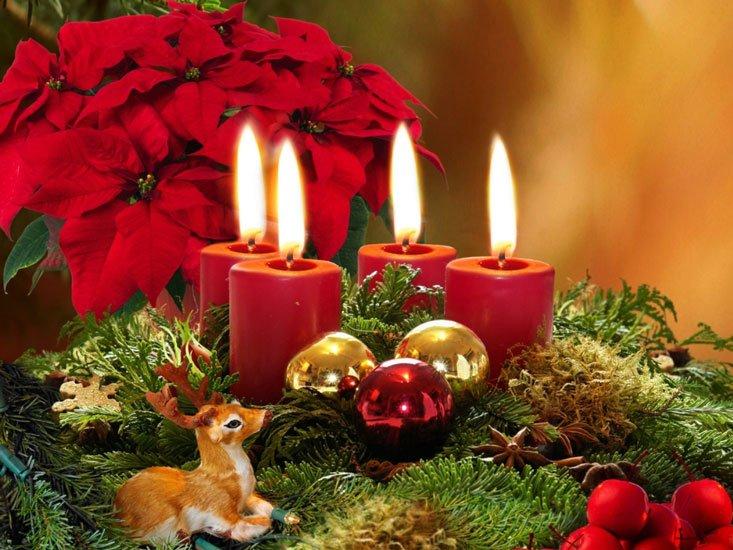 Juleljus och pynt