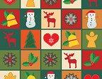 Jul med olika figurer i varje ruta