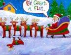 En tokig ren och rolig julkort